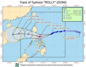 Thông tin cơn bão Goni sẽ đổ bộ vào Philippines vào chiều mai
